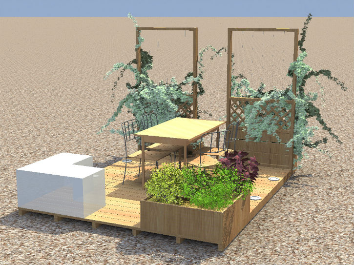 Am nagement jardin particulier for Amenagement jardin 3d